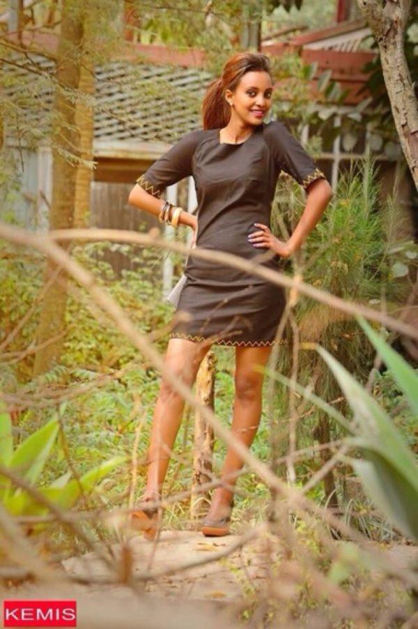 ethiopian black modern dresses