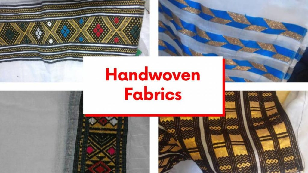 hand woven fabrics in Ethiopia Africa Habesha cultural clothing